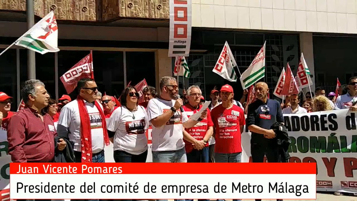 Video 19 de abril de 2018, manifestación Metro Málaga